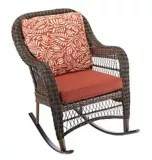 canvas catalina collection wicker patio rocking chair