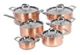 batterie de cuisine en cuivre martele lagostina 12 pces