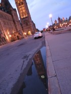 The Peace Tower after the rain