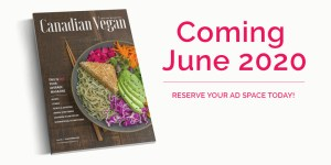 Canadian Vegan Magazine cover mockup