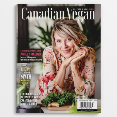 Canadian Vegan Magazine 2021 Spring Issue Featuring Author Ashley Madden