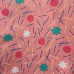 Lin et rose confettis