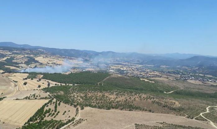 Özbek köyündeki yangın kontrol altına alındı