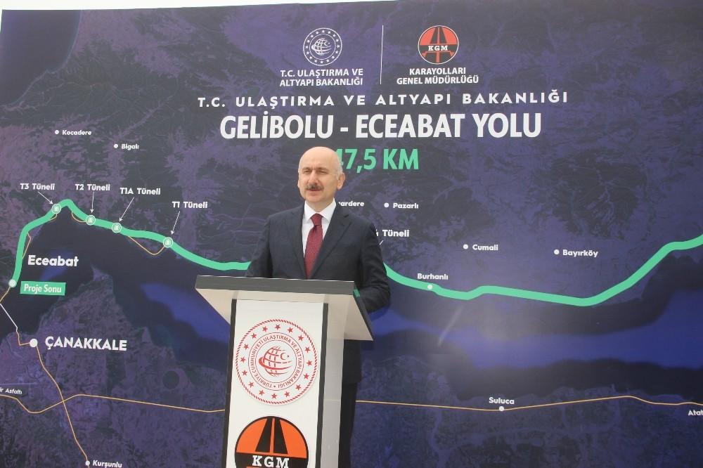 """Bakan Karaismailoğlu: """"Göz bebeğimiz Çanakkale için yapılanlar hiçbir zaman yeterli değildir"""""""
