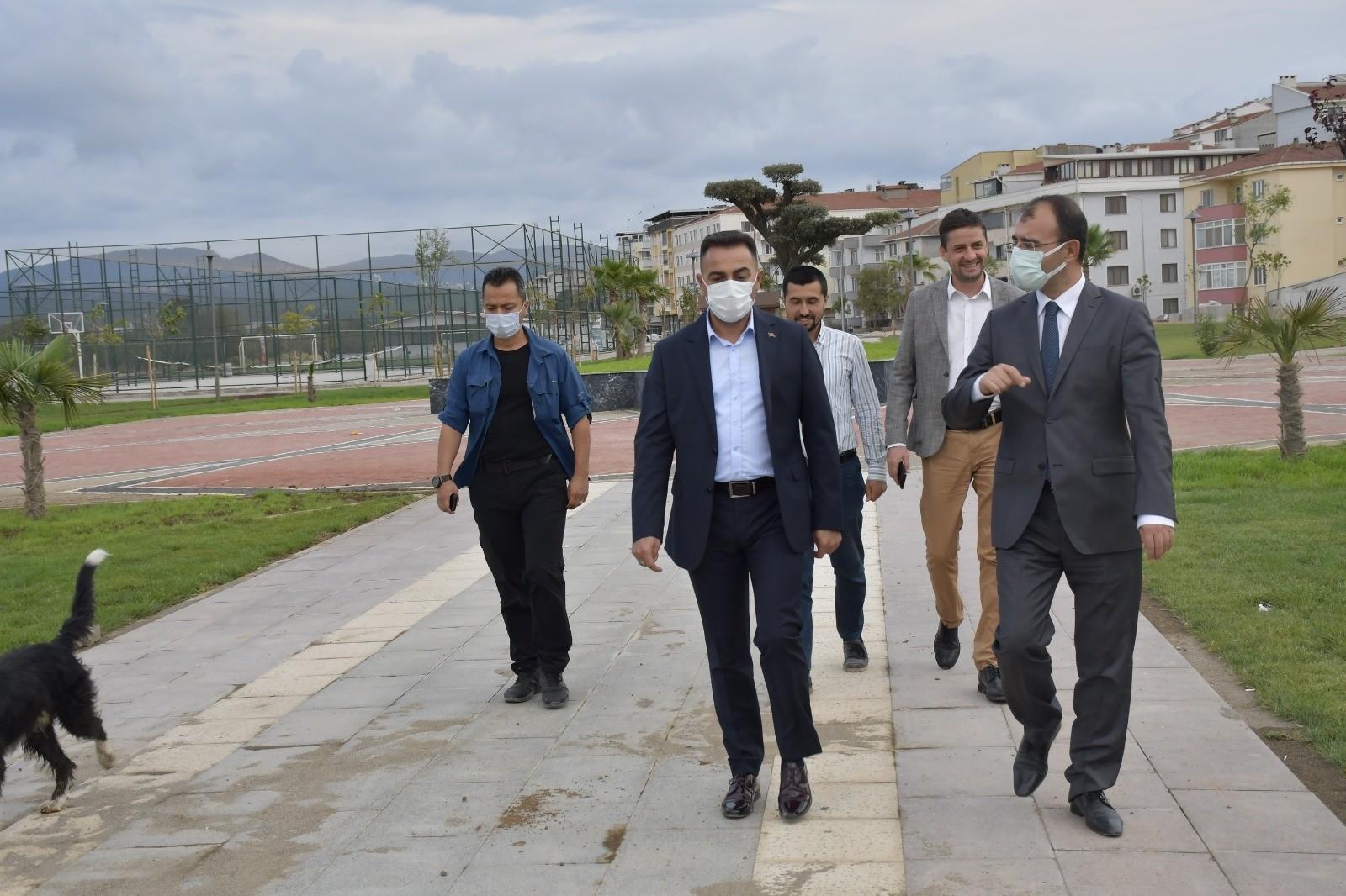 Başkan Erdoğan, Kaymakam Dolu'ya projeleri tanıttı