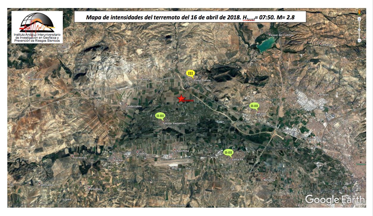 Mapa de intensidades terremoto