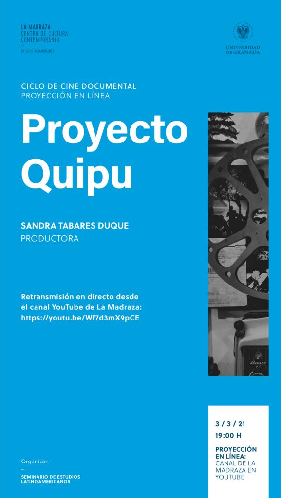 cartel cine documental proyecto quipu