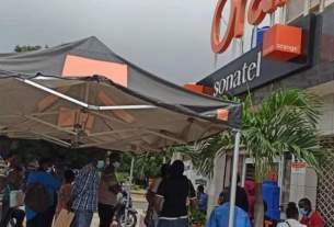 Photo Devanture bureau Orange Jet d'Eau Dakar