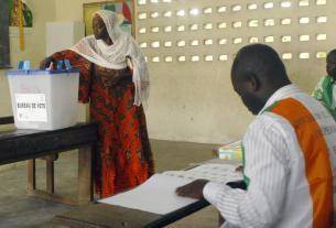 Bureau de vote Côte d'Ivoire jour de scrutin présidentiel