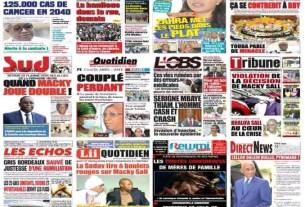 Revue de presse : La Une des quotidiens du Mercredi 21 Octobre 2020