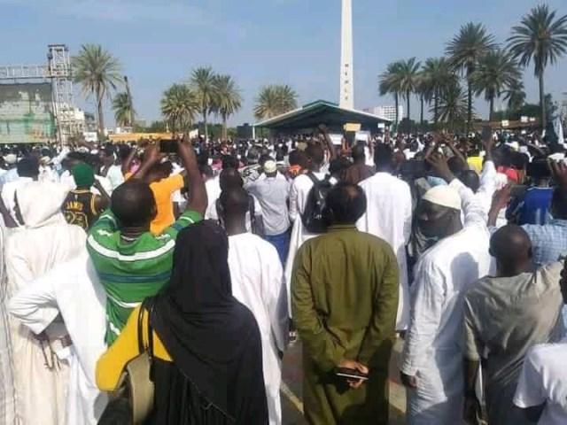 Manifestation à Dakar Place de l'Obélisque