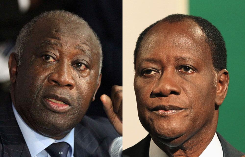 Gagbo et Outtara