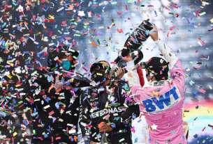 Photo de la victoire de Lewis Hamilton sacre champion du monde