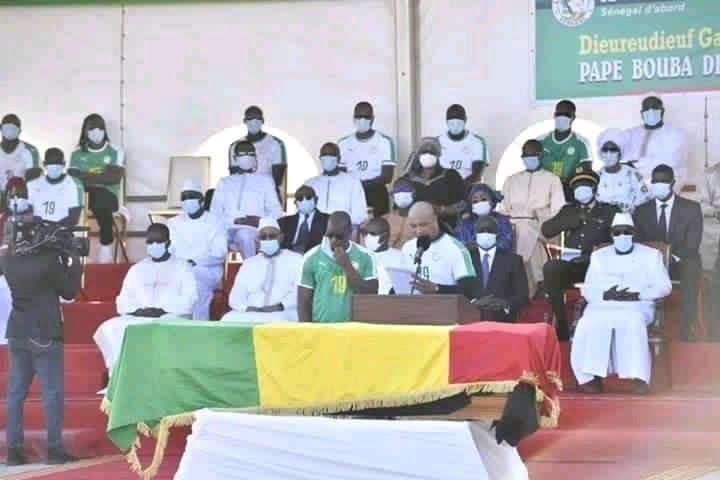 Photo de la cérémonie du décès de Pape Bouba Diop