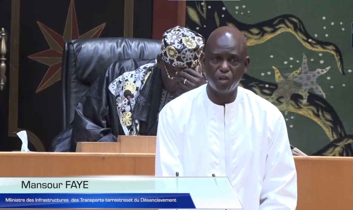Mansour Faye à l'Assemblée nationale