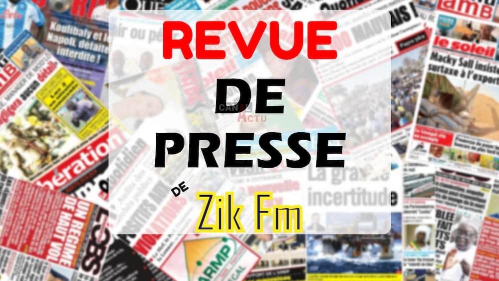 Revue de presse Zik FM du vendredi 11 décembre 2020.