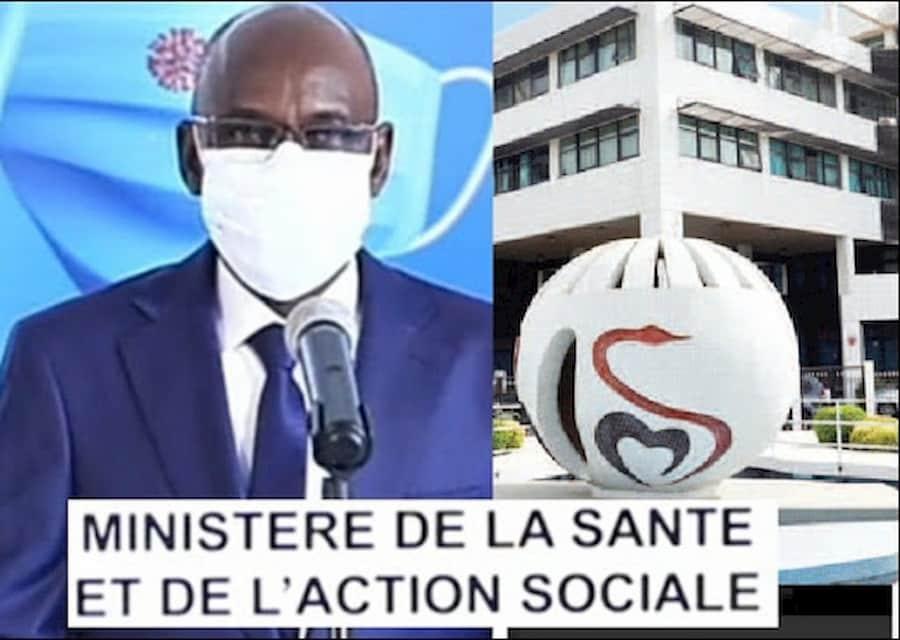 Ministère de la Santé et de l'Action sociale : Point de Situation Coronavirus.
