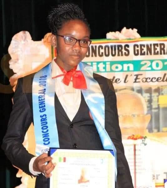 Photo de la meilleure élève du Sénégal Diarry Sow.