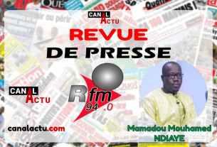 Revue de presse de RFM en Wolof.