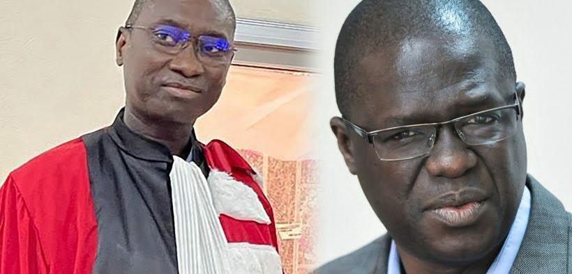 Professeurs Ahmadou Aly Mbaye et Ismaïla Madior Fall.
