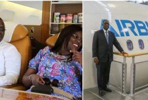 Macky Sall et Mariama Faye dans un avion.