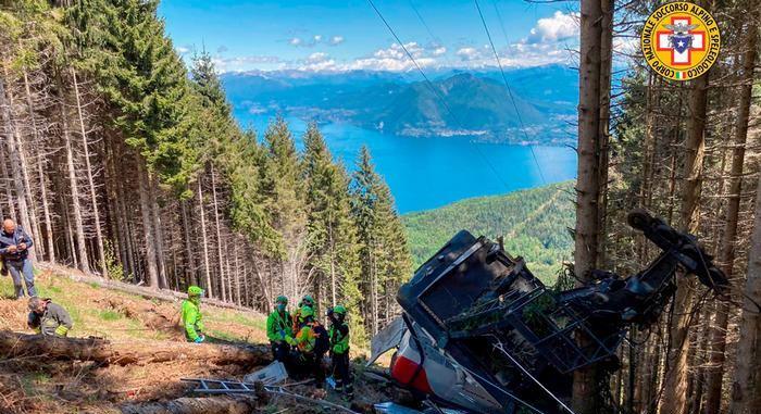 Italie Accident de téléphérique.