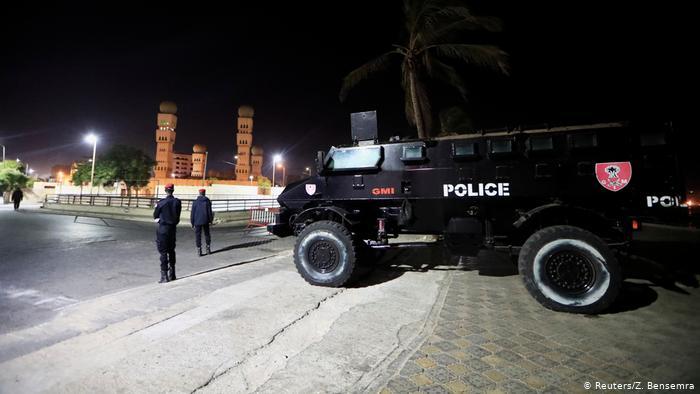 Voiture de la police sénégalaise.