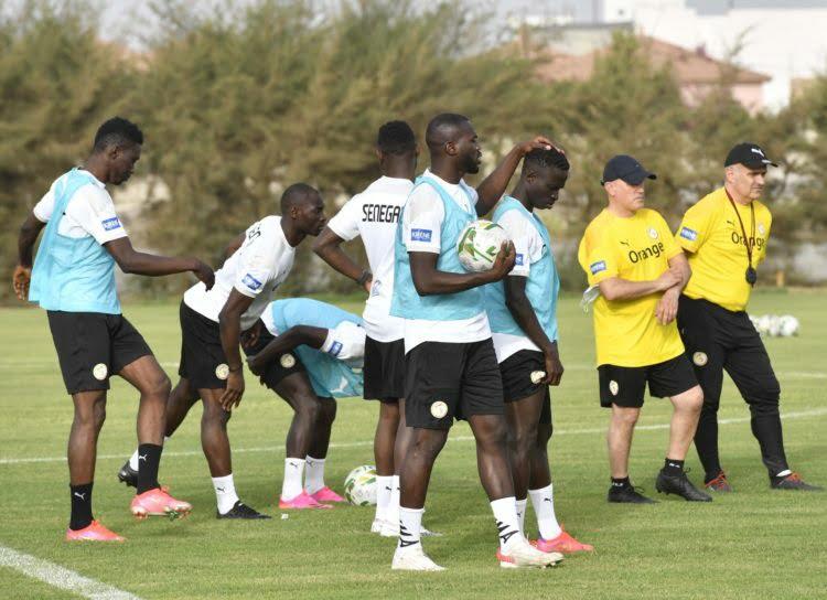 lions du Sénégal entrainement