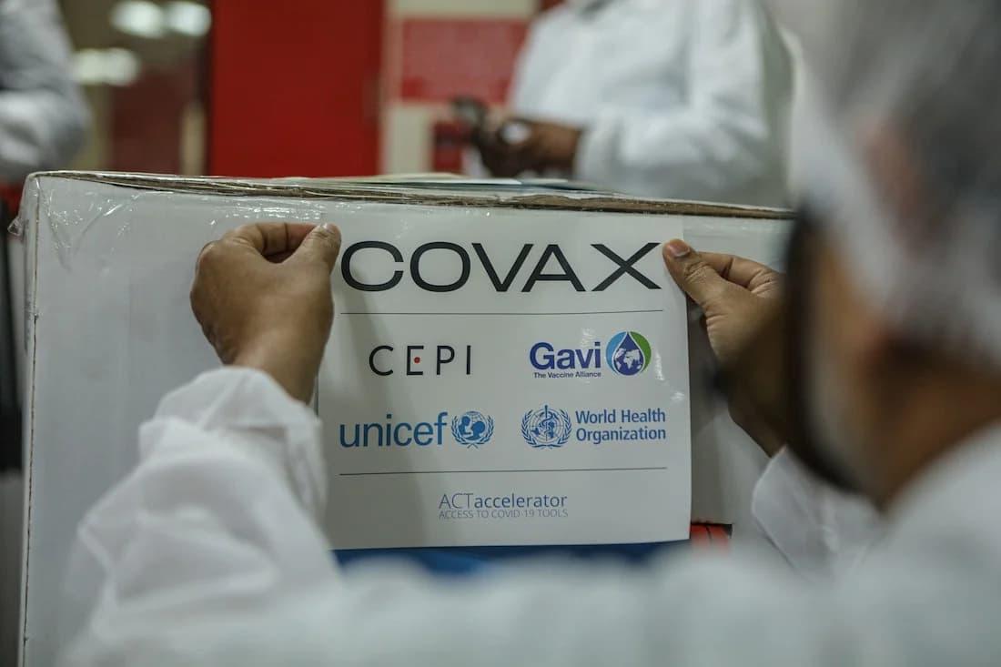 Initiative Covax Covid-19 vaccin.