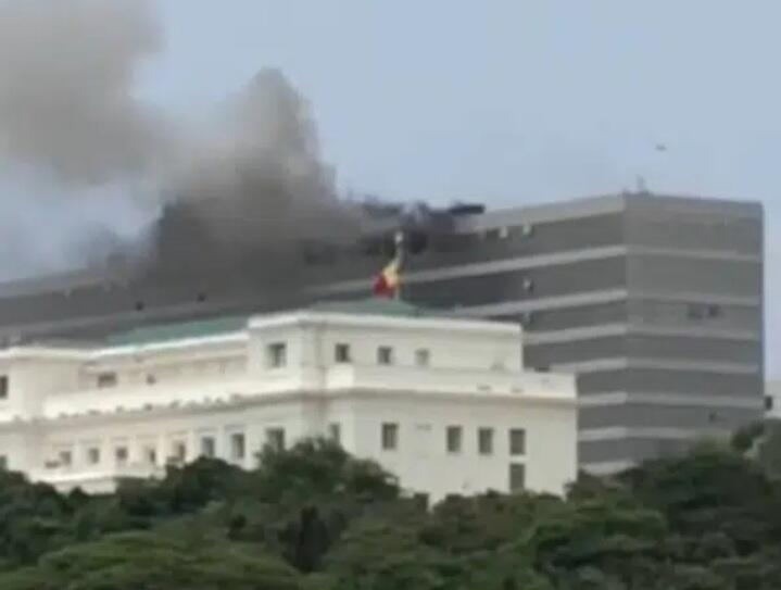 Incendie au building administratif