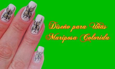 Fotos o Imagenes de Uñas Decoradas, Manicure, Diseño de Uñas Mariposa Colorida paso a paso 5