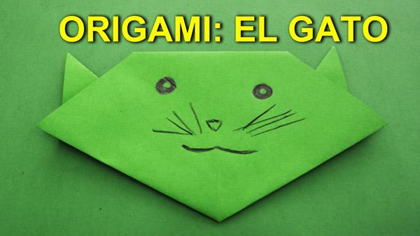 Manualidades de Papel, Origami Facil de Papel para Niños: El Gato