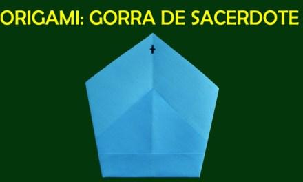 Manualidades de Papel, Origami de Papel para Niños Facil Gorro de Sacerdote