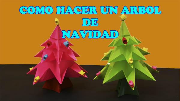 Como hacer un arbol de navidad manualidades navide as con for Arboles de navidad manualidades navidenas