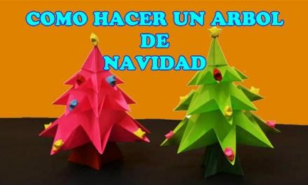 Como hacer un Arbol de Navidad, Manualidades Navideñas con Papel
