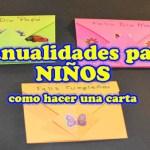 Manualidades para Niños Faciles, sobres de papel para el Dia de la Madre o Padre