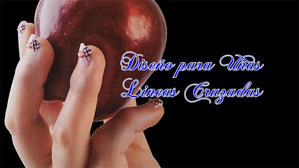 Fotos o Imagenes de Uñas Decoradas, Manicure, Diseño de Uñas Lineas Cruzadas paso a paso 18