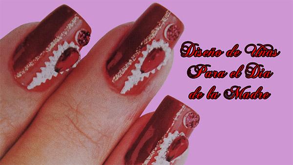 Fotos o Imagenes de Uñas Decoradas, Manicure, Diseño de Uñas para el Dia de la Madre paso a paso 24