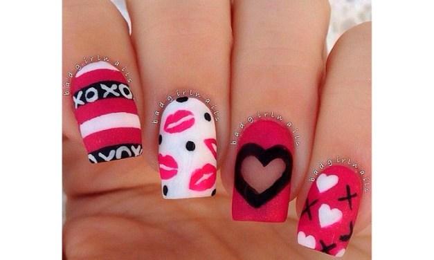 Diseño de Uñas para San Valentin 3