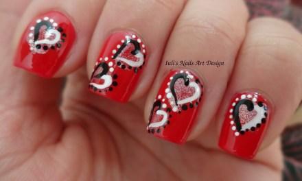 Diseño de Uñas para San Valentin 13