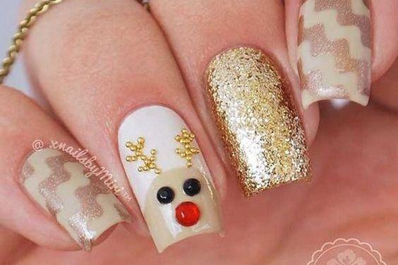 Uñas Decoradas de Navidad 34