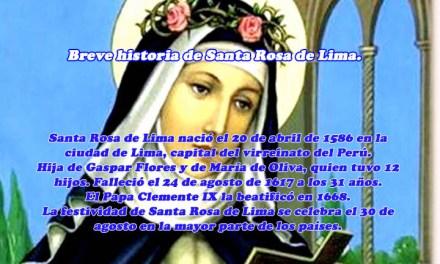 Breve historia de Santa Rosa de Lima