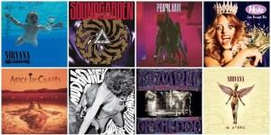 """Os 50 maiores álbuns do Grunge, na opinião da revista """"Rolling Stone""""."""