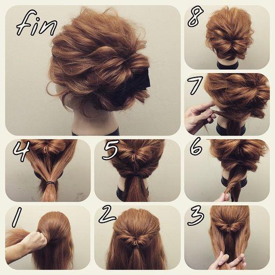 Peinado recogido fácil y elegante paso a paso