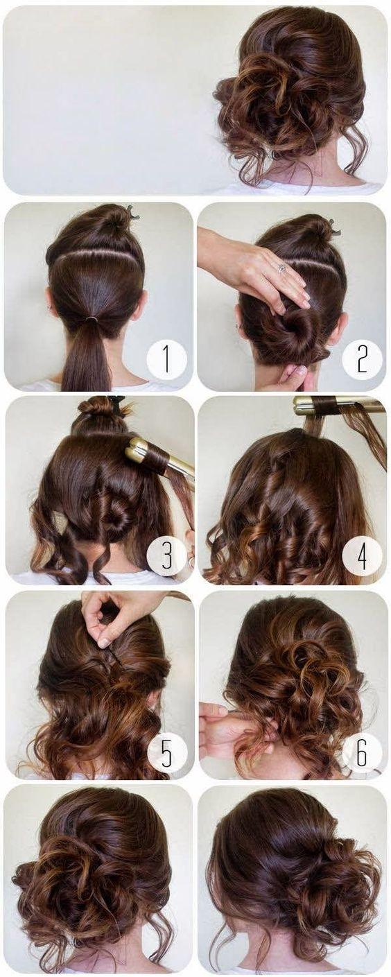 Peinados Sencillos Y Elegantes Amazing Modelo Con Pelo Largo Y