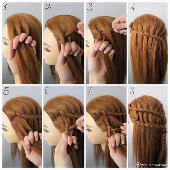 Peinados para fiestas con trenzas faciles