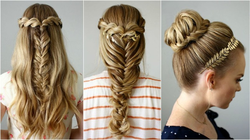 80 peinados sencillos para fiestas pelo corto y largo - Que peinados estan de moda ...