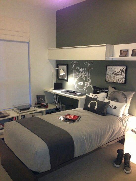 decoración de cuartos en color gris 11