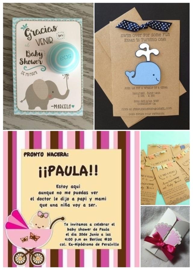 Más de 60 invitaciones para baby shower gratis y fáciles de hacer