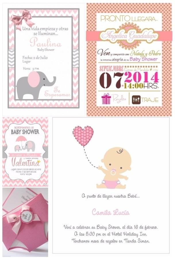 48d8d0ed3a4cb Más de 60 invitaciones para baby shower gratis y fáciles de hacer